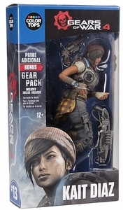 "Kait Diaz (Gears of War 4) 7"" Figure McFarlane Color Tops Series - Blue"