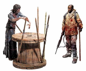 Film-fanartikel The Walking Dead Morgan With Impaled Walker And Spike Trap Deluxe Mcfarlane Toy