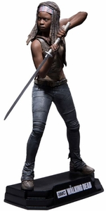 "Michonne (The Walking Dead TV) 7"" Figure McFarlane Collector Edition Color Tops Series - Red"