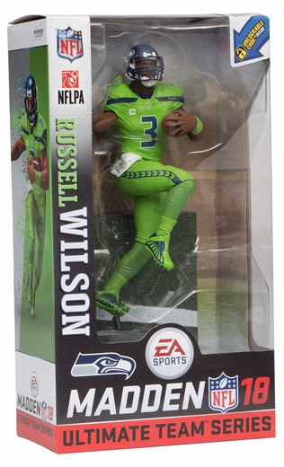 Russell Wilson (Seattle Seahawks) EA Sports Madden NFL 18 Ultimate Team Series 1 McFarlane