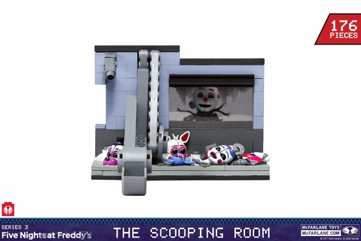 Scooping Room w/ Masked Ennard (Five Nights At Freddy's) Medium Set McFarlane Construction Set