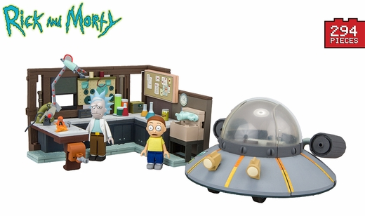 Spaceship And Garage (Rick and Morty) Large Set McFarlane Construction Set