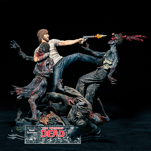 The Walking Dead Comic: Rick Grimes Resin Statue McFarlane Collectors Club Exclusive