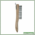 "Forester 10"" Wire Brush With Metal Scraper #Wb01"