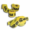"""100' X 3"""" No Trespassing Yellow Safety Tape - #209-825"""