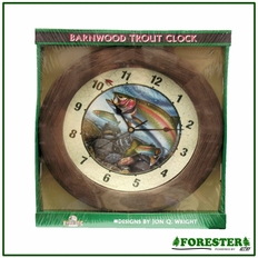 "12"" Barnwood Trout Clock - #Bt785"