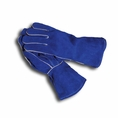 "13"" Blue Leather Welder's Glove #6016"