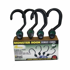 """24"""" (4) Piece 5"""" Monster Hook Bungees - 2"""" Mouth. Part #Pn200"""