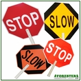"24"" Dia. Stop/Slow Traffic Sign - 79"" Long X 1-1/2"" Dia. Part #8550"