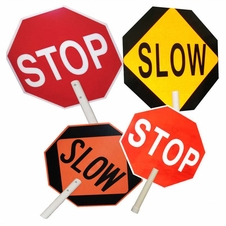 "24"" X 24"" Stop/Slow Road Sign #9554"