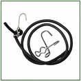25ft Solid Core Rubber Rope W/ 10 Hooks. Part #Rr375-25