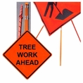 """Forester 48"""" Vinyl Professional Grade Work Sign - Tree Work Ahead"""