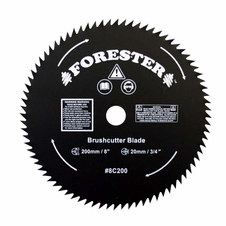 "Forester 80 Tooth Brush Cutter Blade - 8"" Dia / 20mm Arbor"