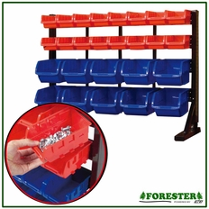 Bench Top Storage Bin Rack #8548