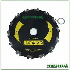 "Forester Chainsaw Tooth Brushcutter Blade - 7"" Diameter x 1"" or 20mm Arbor"