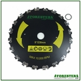 "Forester Chainsaw Tooth Brushcutter Blade - 9"" Diameter x 1"" Arbor - #Cut-9"