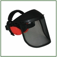 Forester Face & Hearing Protection Combo: Black / Orange Muffs - #Woodyspko