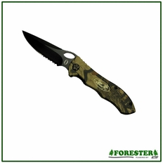 "Folding Camo Pocket Knife - 7.5"". Part #16186"