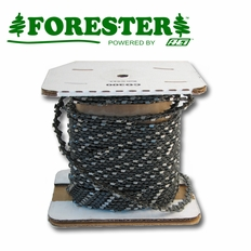 "Forester 100ft Roll - 3/8"" Standard .063 Round Tooth Reduced Kickback Chain Saw Chain"