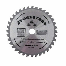 "Forester 32 Tooth Carbide Tip Brush Cutter Blade - 8"" x 1"" / 20mm Arbor"