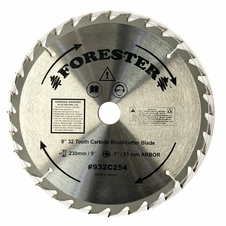 "Forester 32 Tooth Carbide Tip Brush Cutter Blade - 9"" x 1"" / 20mm Arbor"