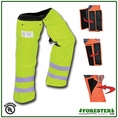 "Forester 37"" Regular Wrap Around Slap Chap Velcro Chainsaw Chaps - Safety Green"