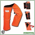 "Forester 37"" Wrap Around Slap Chap Velcro Chainsaw Chaps - Orange"