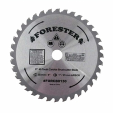 "Forester 40 Tooth Carbide Tip Brush Cutter Blade - 8"" x 1"" / 20mm Arbor"