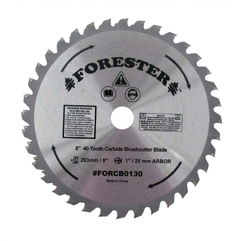 Forester 40 Tooth Carbide Tip Brush Blade - 8