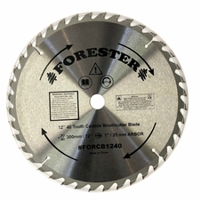 "Forester 40 Tooth Carbide Tip Brush Cutter Blade - 12"" x 1"" / 20mm Arbor"
