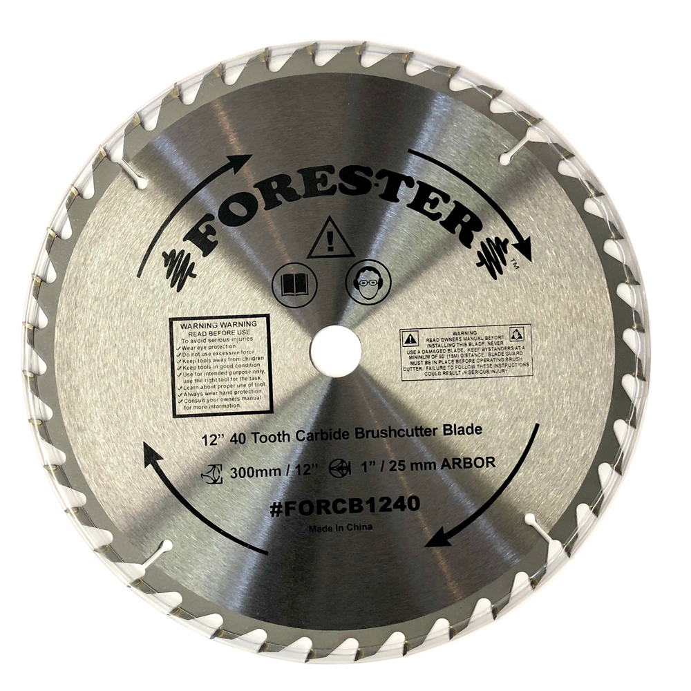 Forester 40 Tooth Carbide Tip Brush Cutter Blade - 12