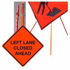 "Forester 48"" Vinyl Professional Grade Work Sign - Left Lane Closed"