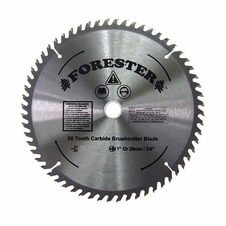 "Forester 60 Tooth Carbide Tip Brush Cutter Blade - 9"" x 1"" / 20mm Arbor"