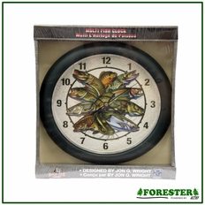 "Forester 9.5"" Multi Fish Design Clock - #F649"
