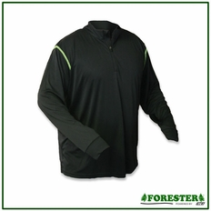 Forester Black 1/4 Zip Long Sleeve Shirt