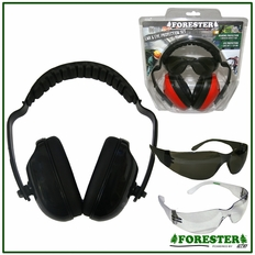 Forester Black Muff & Glasses Combos - #Fo513t-Bk, #Fo513c-Bk