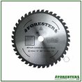 "Forester 40 Tooth Carbide Tip Brush Blade - 10"" x 1"" / 20mm Arbor -  FORCB0132"