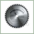 """Forester 40 Tooth Carbide Tip Brush Blade - 10"""" x 1"""" / 20mm Arbor -  FORCB0132"""