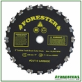 "Forester Carbide Tipped Chainsaw Tooth Brush Cutter Blade - 9"" Diameter"