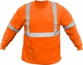Forester Hi-Vis Class 2 Long Sleeve Safety T-Shirt - Orange