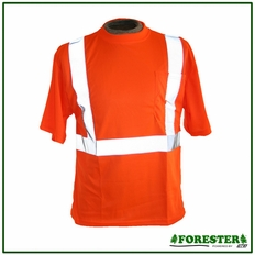 Forester Hi-Vis Class 2 Reflective Safety T-Shirt - Orange