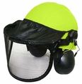 Forester Complete Woodman Helmet System - Safety Green