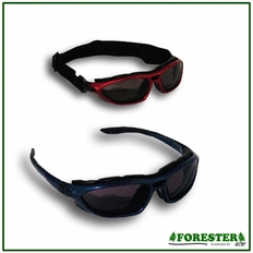 Forester Convertible Safety Glasses/Goggles w/ Strap - Smoked Lens