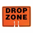 Forester Drop Zone Cone Insert Sign - Orange