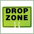 Forester Drop Zone Cone Sign - Safety Green