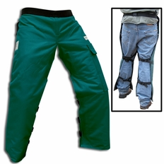 "Forester Green Long 40"" Apron Style Chainsaw Chaps"