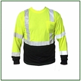 Forester Hi-Vis Black Bottom Class 2 Reflective Safety Long Sleeve Shirt - Safety Green