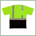 Forester Hi-Vis Black Bottom Class 2 Reflective Safety T-Shirt - Safety Green