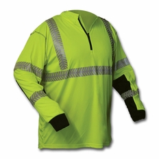 Forester Hi-Vis Class 3 1/4 Zip Long Sleeve Shirt - Safety Green