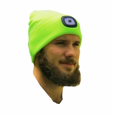 Forester Hi-Vis Beanie w/ Head Lamp